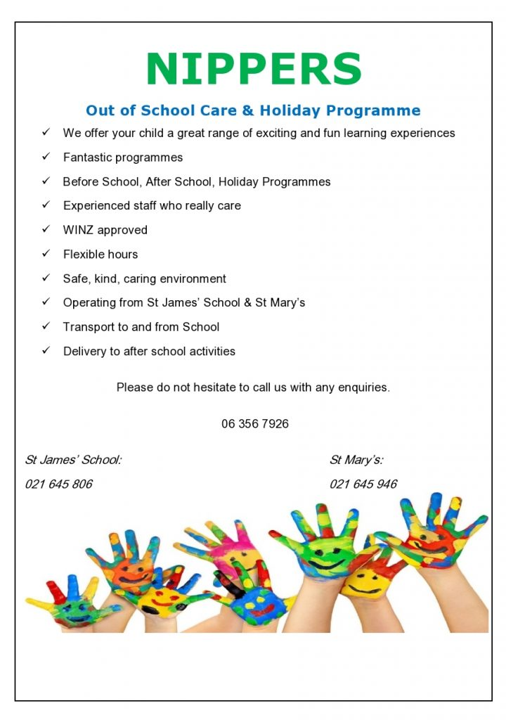 Before and After School Care, St James' Catholic School Palmerston North